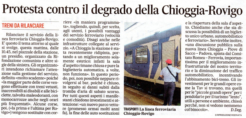«Protesta contro il degrado della Chioggia-Rovigo» (Il Gazzettino di Venezia del 24 ottobre 2020).