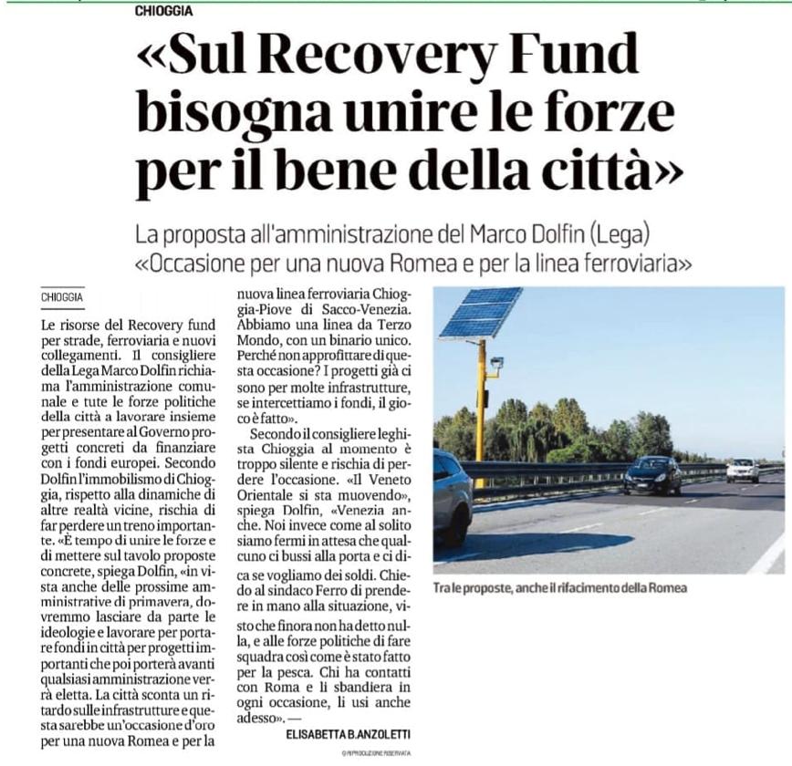 « Sul Recovery Fund bisogna unire le forze per il bene della città »
